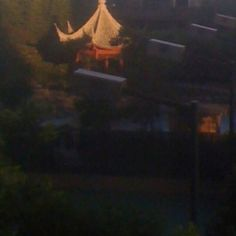In Shinning Pagota at the Our Garden, Evening.