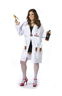 Women's Plus Size Dr. Shots Costume