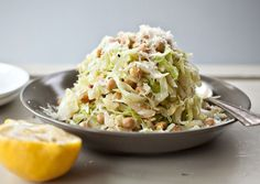 Spicy Sauteed Cabbage and Chickpeas - bon appetit Cabbage Recipes, Vegetable Recipes, Vegetarian Recipes, Cooking Recipes, Healthy Recipes, Vegetarian Cabbage, Healthy Dinners, Yummy Recipes, Yummy Food