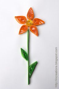 Quilling flower for kids