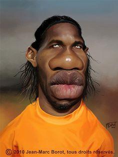Caricatura de Didier Drogba.
