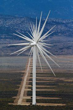14 Wind Turbines Lined Up, Nevada