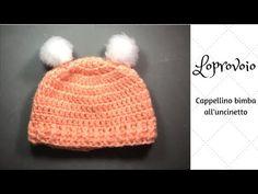 Cappellino all'uncinetto 0-3 mesi - YouTube