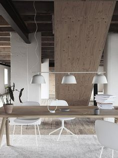 Buy Muuto Ambit Rail Lamp online with Houseology's Price Promise. Full Muuto collection with UK & International shipping. Decor, Furniture, Room, Interior, Lamp, Dining Table, Table, Muuto, Interior Design