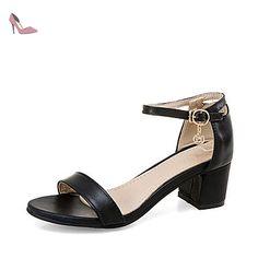 LvYuan sandales été d'orsay&deux pièces partie similicuir de mariage&robe de soirée gros talon strass boucle , pink , us6.5-7 / eu37 / uk4.5-5 / cn37 - Chaussures lvyuan (*Partner-Link)