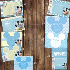 Items similar to Custom Baby Mickey Mouse Birthday Invitations, Featuring Birthday on Etsy Minnie Mouse Birthday Invitations, Mickey Mouse 1st Birthday, Baby Mickey Mouse, Custom Birthday Invitations, Mickey Party, Baby First Birthday, Digital Invitations, First Birthday Parties, Birthday Ideas