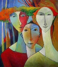 "∴ Trios ∴ the three graces & groups of 3 in art and photos - Françoise Collandr ~ ""Le Trio"""