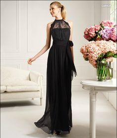 schwarz Abendkleider lang