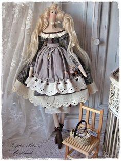 Tilda doll Miss Jolene Fabric Handmade doll Country style
