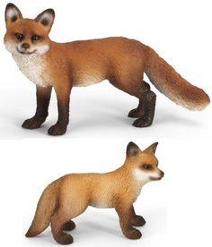 Schleich Renard Avec Renardeau 2 Animal Figurine Set - 14648 14649: Amazon.fr: Jeux et Jouets