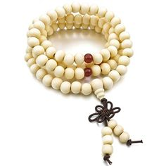 Men,Women's 8mm Wood Bracelet Link Wrist Necklace Chain Tibetan Buddhist Sandalwood Prayer Buddha Mala ** More details @…