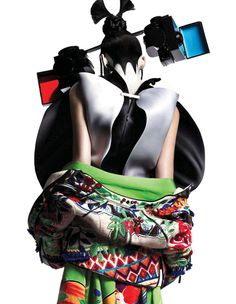 'New Tradition' - Model:Eugenia Volodina | Photographer:Ishi   *Givenchy by Riccardo Tisci, Barbara Bui, Van Hier Tot Tokio, Sasja Strengholt