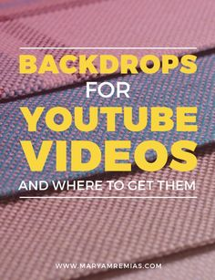 Here are five resources to find backgrounds for your YouTube videos, if you want to change up your set. Click through to read the post. http://www.maryamremias.com/backdrops-for-youtube-videos/
