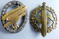 WWII Nazi Germany parachute badge in the form of an View Catalog