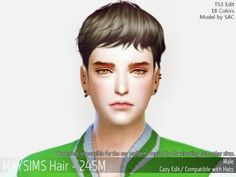 Cazy short male hair for The Sims 4