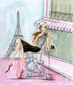 Cafe Paris by Bella Pilar   DecalGirl