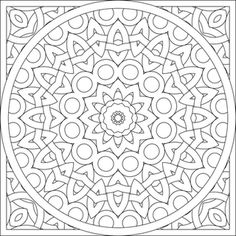 Mandalas - printables...the adult coloring pages!!! Love to color mandalas!