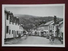 West Street, Dunster, Somerset, England. c1950. Some of my ancestors were from Dunster - if you're researching the surname Thomas, do get in touch! esjones <at> btopenworld.com