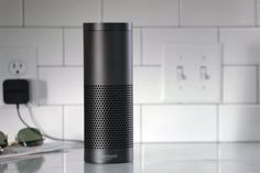 Amazon Echo is designed around your voice. It's hands-free and always on. With seven microphones and beam-forming technology, Echo can hear you from across the room—even while music is playing. Echo is also an expertly tuned speaker that can fill any room with immersive sound.