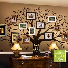 Get the original Simple Shapes® Family Tree Wall Decal that everyone is talking about. Let our Family Tree be the focal point of your foyer, hallway, living room or office! Display all of your family