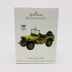 Hallmark Keepsake 1943 Ford Army Jeep GPW Die Cast Metal 2012 New In Box  | eBay