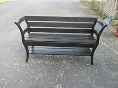 Thanks My Repurposed Life. I love this bench you made from 2 chairs. It's awesome! | double chair bench (18)