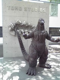 Godzilla statue at Toho Studios