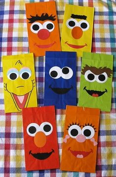 Sesame Street Goody Bags- I cant decided Sesame Street or Tangled? She loves them both.. :-)