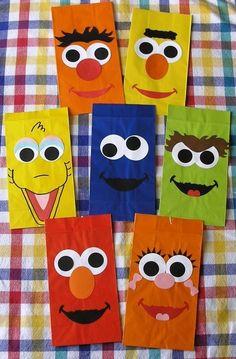 Sesame Street Goody Bags- I cant decided Sesame Street or Tangled? She loves them both.. :-)