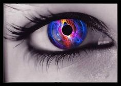 Color Splash Eyes | color splash colorful rainbow purple red pink orange eye photo eye16 ...
