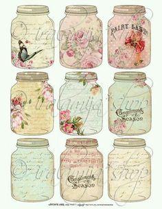 Vintage jar clip art