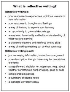 reflectivejournal net best reflective journal sample  what reflective writing is and what it is not