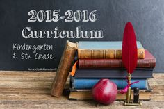 Our Curriculum for 2015-2016 {Kindergarten & 5th Grade} #HSMama #homeschool