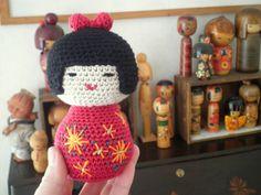 Kokeshi doll crochet pattern by CHD
