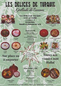 menu-restaurant Les Delices de Turquie, Nice, France, via Flickr.