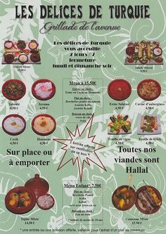 menu-restaurant Les Delices de Turquie, Nice, France, via Flickr.