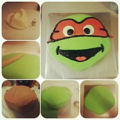 Ninja Turtle cake. Gluten free chocolate cake decorated with fondant.