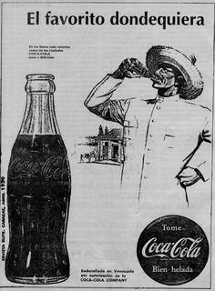 COCA-COLA - VENEZUELA - 1950 - VINTAGE AD   VENEXILE NETWORKS