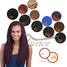 14inch 18 inch Faux Locs Braiding Hair Synthetic Curly Extensions Crochet Hair Styles Faux Locs faux locs Free Shipping Faux Locs Colored, Havana Braids, Hair Stores, Braid In Hair Extensions, Crochet Hair Styles, Braided Hairstyles, Curly Hair Styles, Dreadlocks, Stuff To Buy