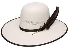 Wrangler Ringneck Black Bound Natural Straw Cowboy Hat | AA Callisters