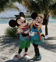 Mickey & Minnie at Cast Away Cay