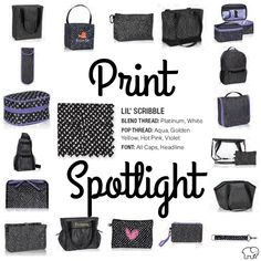 Print Spotlight for Spring/Summer 2017 Thirty-One - lil\' Scribble  #newcatalog #Carrie31Bags