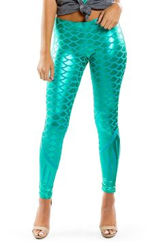 a97f18e932617c Are you looking for a mermaid Costume? We've got you covered with our super  cute Women's Mermaid Leggings perfect for Halloween.