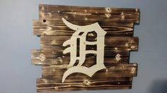 Detroit Tigers wall art by CarolinaPalletDesign on Etsy