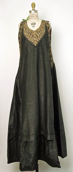 Dress Date: 19th century Culture: Algerian Medium: silk, cotton, metal thread  courtesy of The Met