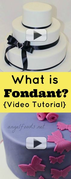 What is fondant video tutorial | Thinking about decorating a cake in fondant (that wedding cake icing, fancy icing, kinda like marzipan or paste.) Known as plastic icing, rolled royal icing, RTR icing. | http://angelfoods.net/what-is-fondant/