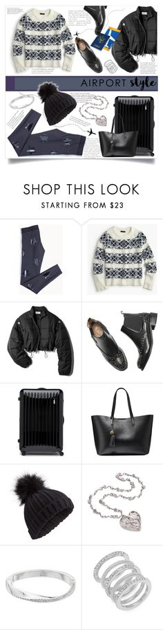 """""""Cozy Airport Style"""" by allyssister ❤ liked on Polyvore featuring J.Crew, 3.1 Phillip Lim, Bric's, Cole Haan, Miss Selfridge and Dana Buchman"""