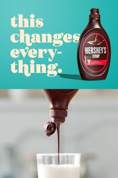 Every day is a chance to stir up something special for someone special with a little Hershey's Syrup and an ice cold glass of milk. The Cream, Yummy Treats, Sweet Treats, Yummy Food, Shortbread, Toffee, Avocado Toast, Make It Easy, Hershey Syrup