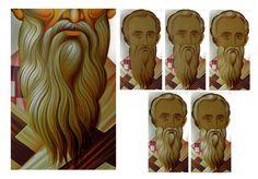 Byzantine Icons, Byzantine Art, Religious Icons, Religious Art, Painting Process, Painting & Drawing, Writing Icon, Paint Icon, Face Icon