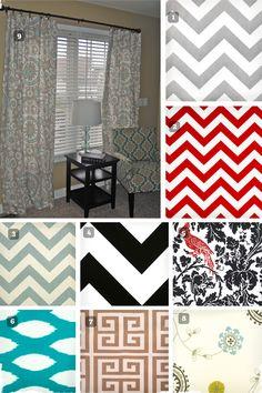 "Stunning 50"" W x 84 "" L Curtain Panel - 9 Fabrics to Choose From at VeryJane.com #decor #curtains #homedecor"
